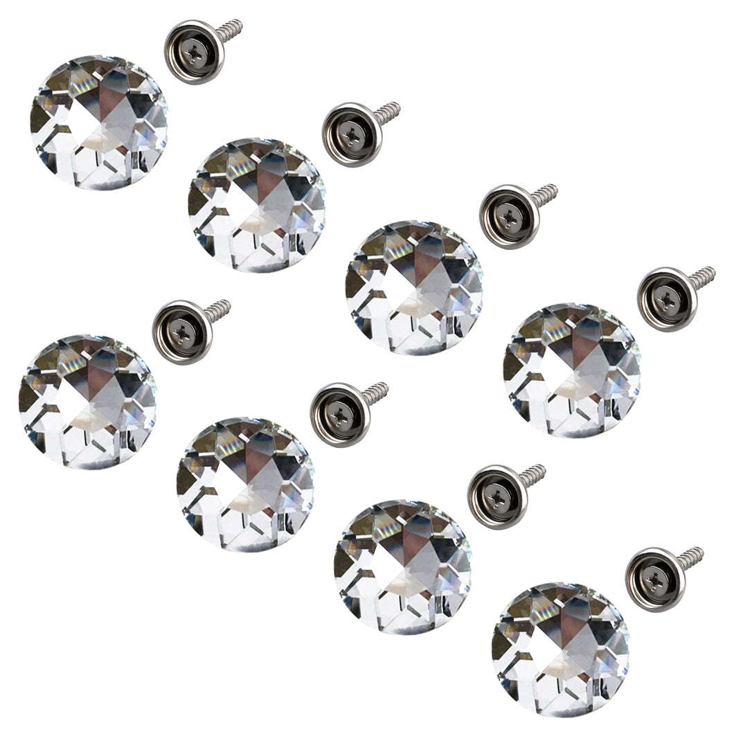 50PCS 25MM Clear Diamond Sparkly Decorative Buttons-INC-YF06-154-US8