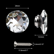 Load image into Gallery viewer, 50PCS 25MM Clear Diamond Sparkly Decorative Buttons-INC-YF06-154-US8