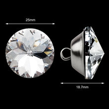 Load image into Gallery viewer, 50PCS 25MM Clear Diamond Sparkly Decorative Buttons-INC-YF06-155-US8
