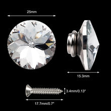 Load image into Gallery viewer, 50PCS 25MM Clear Diamond Sparkly Decorative Buttons-INC-YF06-157-US8
