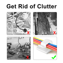 Load image into Gallery viewer, 30 Packs Multipurpose White Organizer Adhesive Cable Clip-INC-YF13-066