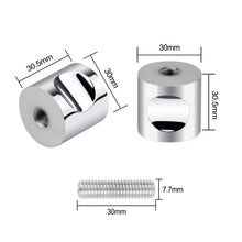 Load image into Gallery viewer, 2PCS Stainless Steel Round Back-to-Back Door Handle-INC-YF14-052-US8