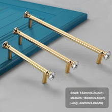 Load image into Gallery viewer, 4pcs 230mm Gold Decorative Brass Cabinet Door Handles-INC-YF18-115