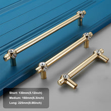 Load image into Gallery viewer, 4pcs 5.12 inch Gold Decorative Brass Cabinet Door Handles-INC-YF18-117