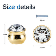 Load image into Gallery viewer, 6pcs 50mm Gold Gourd-shaped Crystal Cabinet Knobs-INC-YF18-120