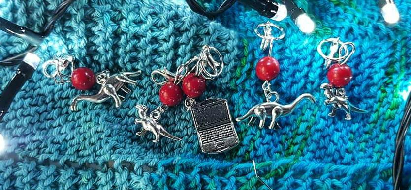 Exclusive PythonCharms stitch marker sets