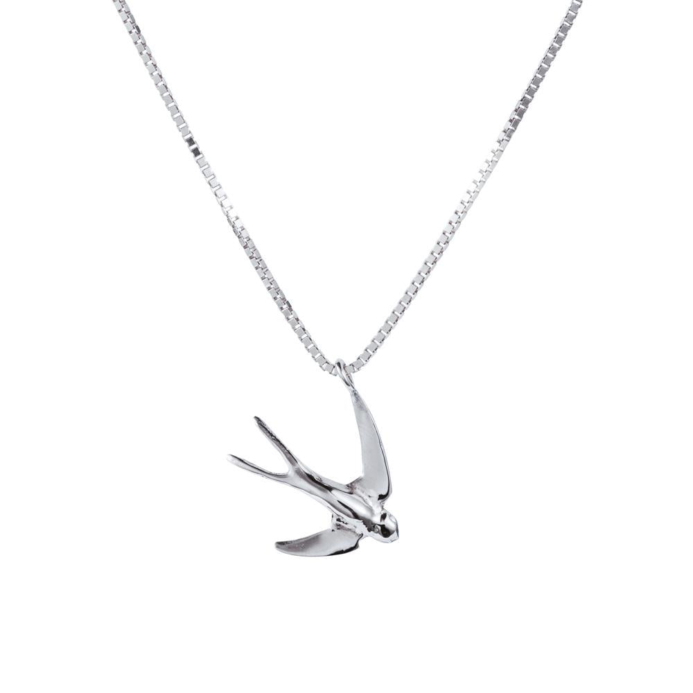 Swallow Pendant in Sterling Silver.