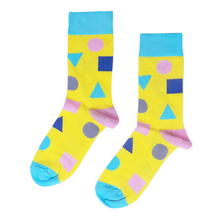 Load image into Gallery viewer, Yellow Shape Socks