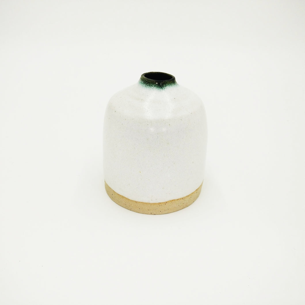 Small White Ceramic Vase Handmade