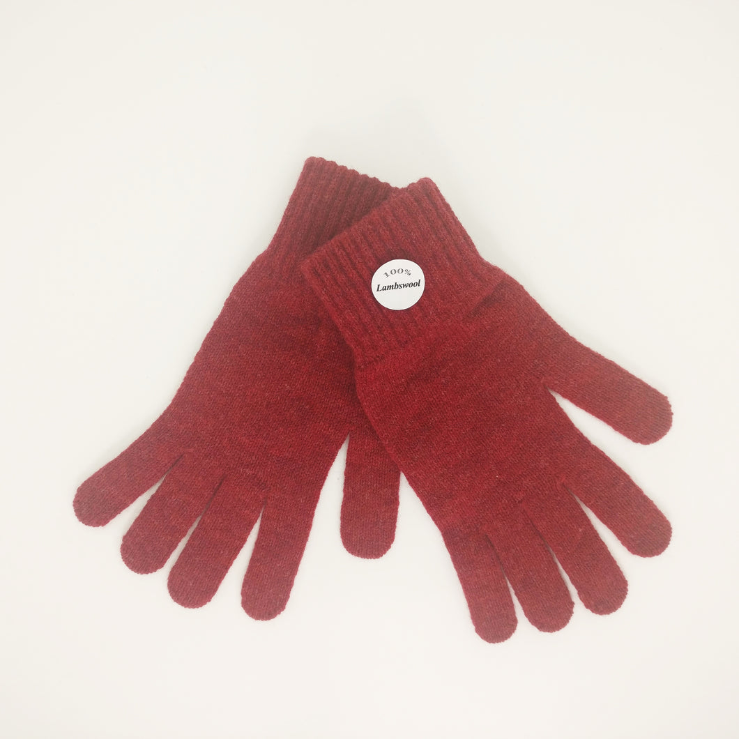 Red Lambswool Gloves