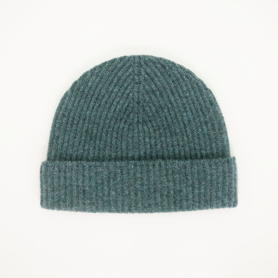 Light Teal Lambswool Beanie
