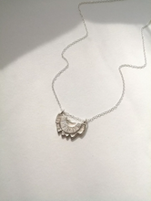 Load image into Gallery viewer, Lotus Necklace Sterling Silver