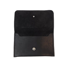 Load image into Gallery viewer, Black Leather Coin Purse