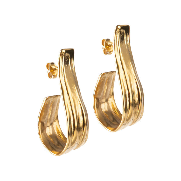 Freya Gold Plated Bronze Statement Earrings