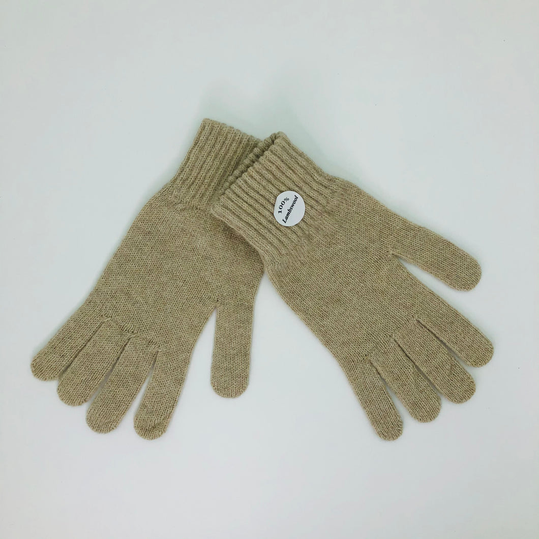 Oatmeal Lambswool Gloves