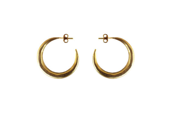 Gold Plated Sterling Silver Chenier Earrings