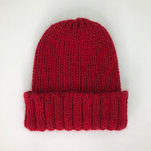 Load image into Gallery viewer, Red Wool/Alpaca Mix Beanie