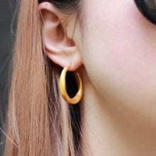 Load image into Gallery viewer, Gold Plated Sterling Silver Chenier Earrings
