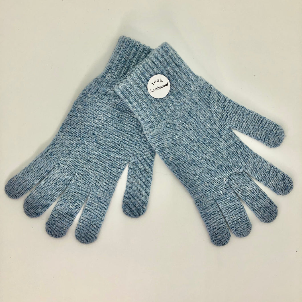Blue Lambswool Gloves