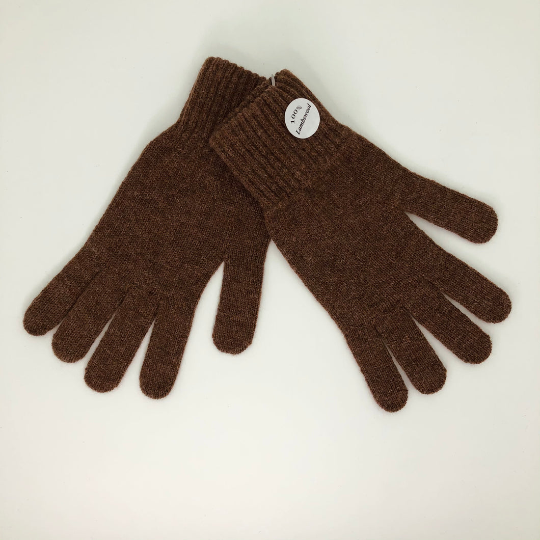 Brown Lambswool Gloves