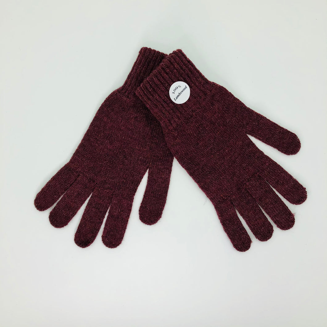 Burgundy Lambswool Gloves