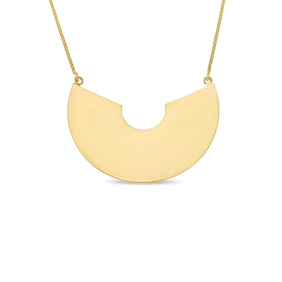 Disco Pendant Gold Plated Sterling Silver