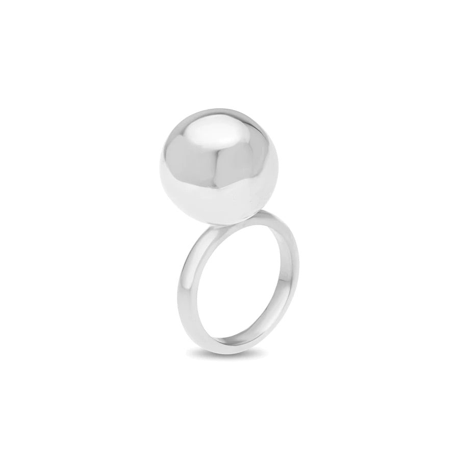 Large Ball Ring Sterling Silver