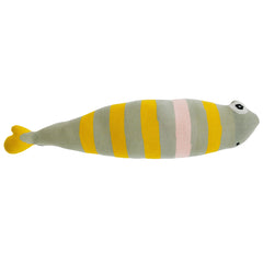 Scandi style cushion in the shape of the fish