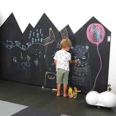 Blakboard wall for kids room decoration