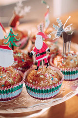 Nordic lemon is cooking muffins with sprinkles fro Christmas breakfast