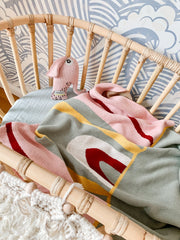 Bamboo infant cot for the newborn