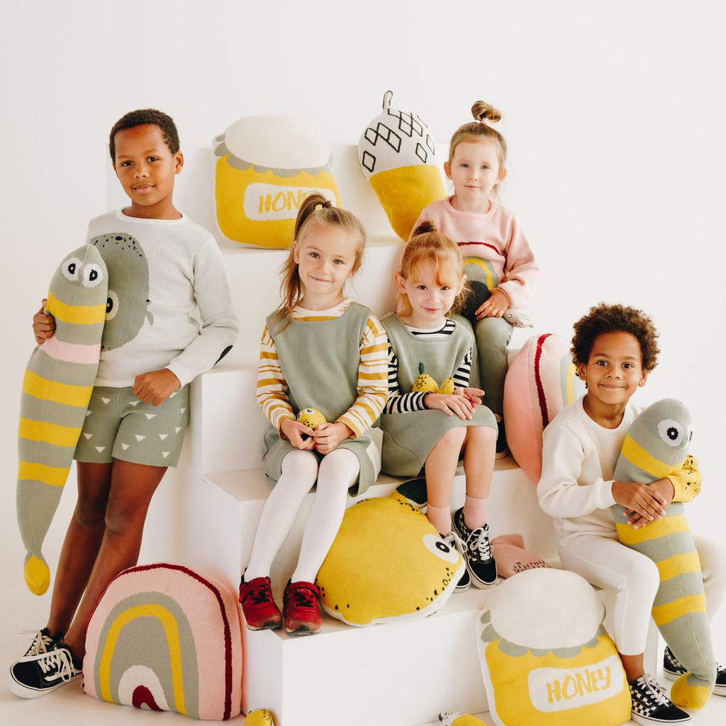 Nordic Lemon organic cotton clothing line and mini interior collection featuring fun and playful motifs for urban kids.