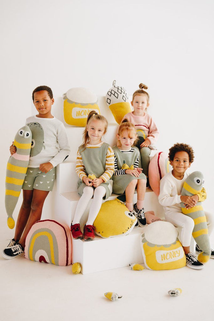 Nordic lemon collection features clothing line made of organic cotton and interior items for kids rooms.
