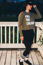 Load image into Gallery viewer, Free the Children (Long-Sleeve Crop Top)