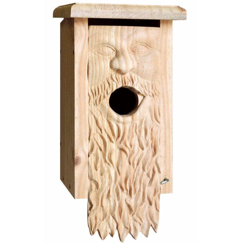Father Time Carved Birdhouse-Decorative Evergreens-Christmas Delivered