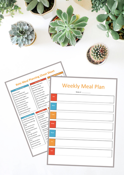 Keto Meal Planning Printables {5 Pages]