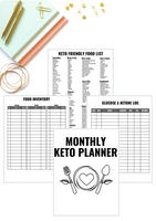 Monthly Keto Planner [40+ Page Printable Download]