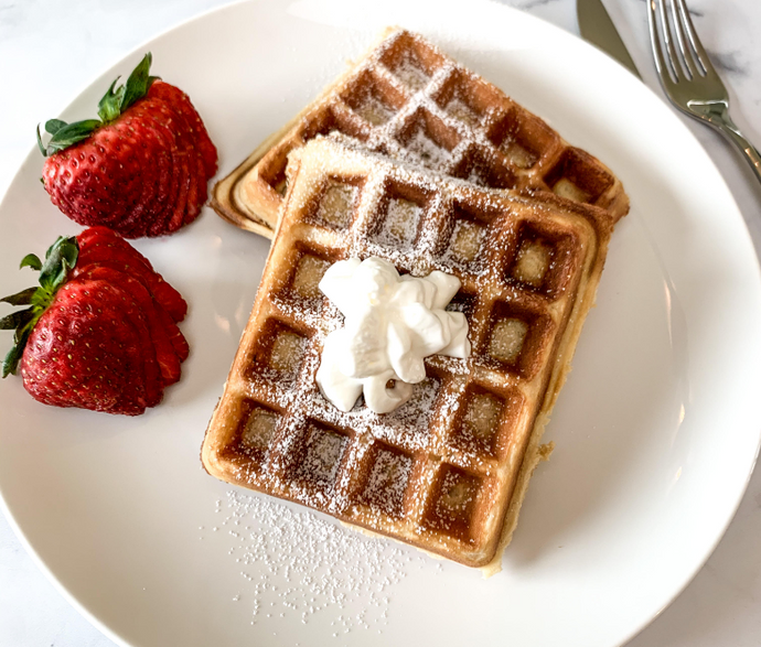 The Best Waffles with Three Farm Daughters Flour