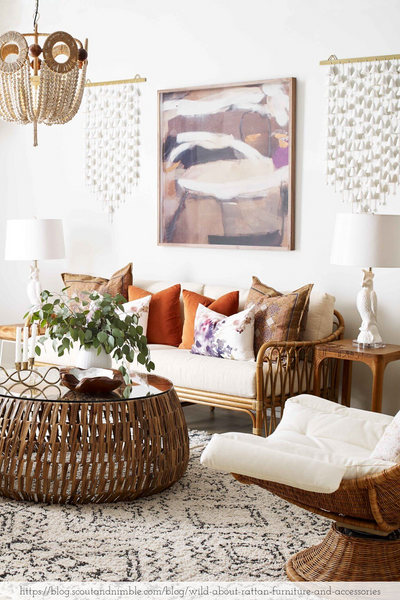 boho chic design living room