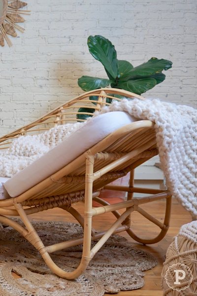 boho chic rattan chaise lounge