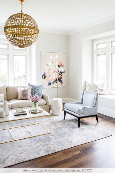 chic design room with white decor