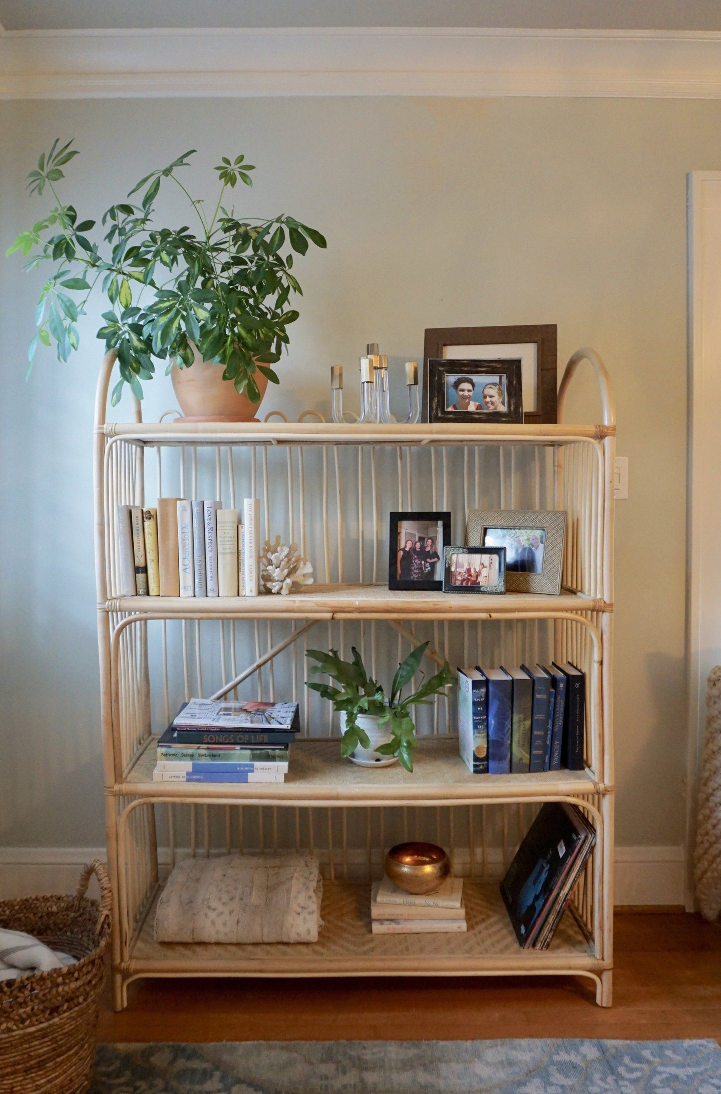 Looped Back Rattan Bookshelf *In Store Pick Up Only* Furniture Picnic Imports