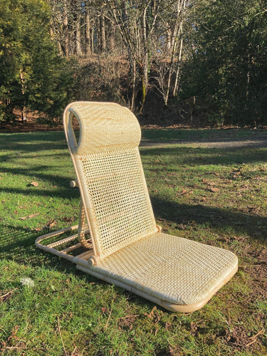 Petite Folding Rattan Beach Chair Chair Picnic Imports