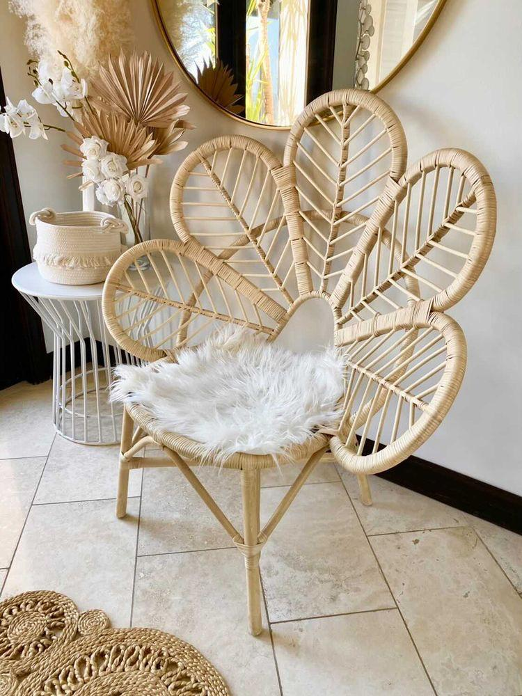 Rattan Flower Accent Chair Chair Picnic Imports