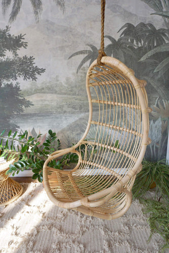 Seaside Rattan Hanging Swing Chair Chair Picnic Imports
