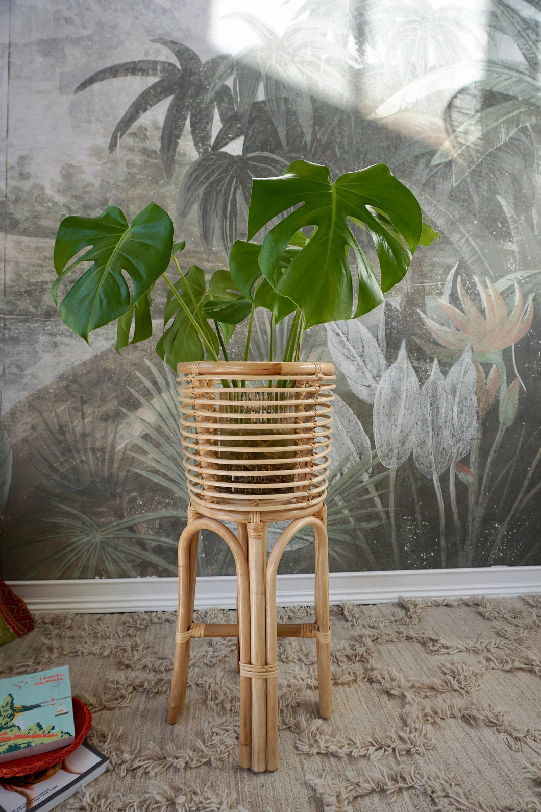 Tall Rattan Plant Stand Decor Picnic Imports