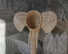 Load image into Gallery viewer, Woven Wicker Elephant Wall Hanging Decor Picnic Imports