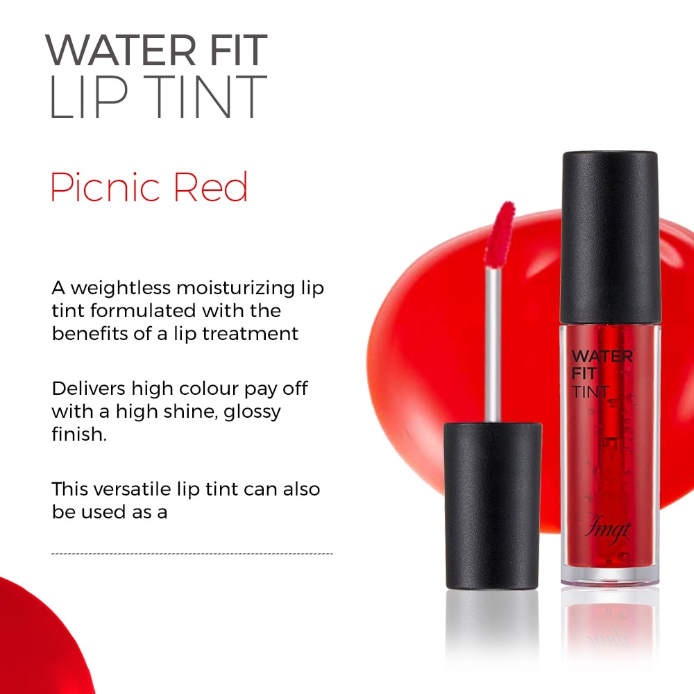 Water Fit Lip Tint - Picnic Red