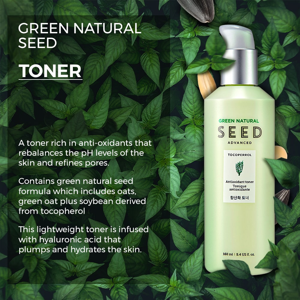 Green Natural Seed Antioxidant Toner