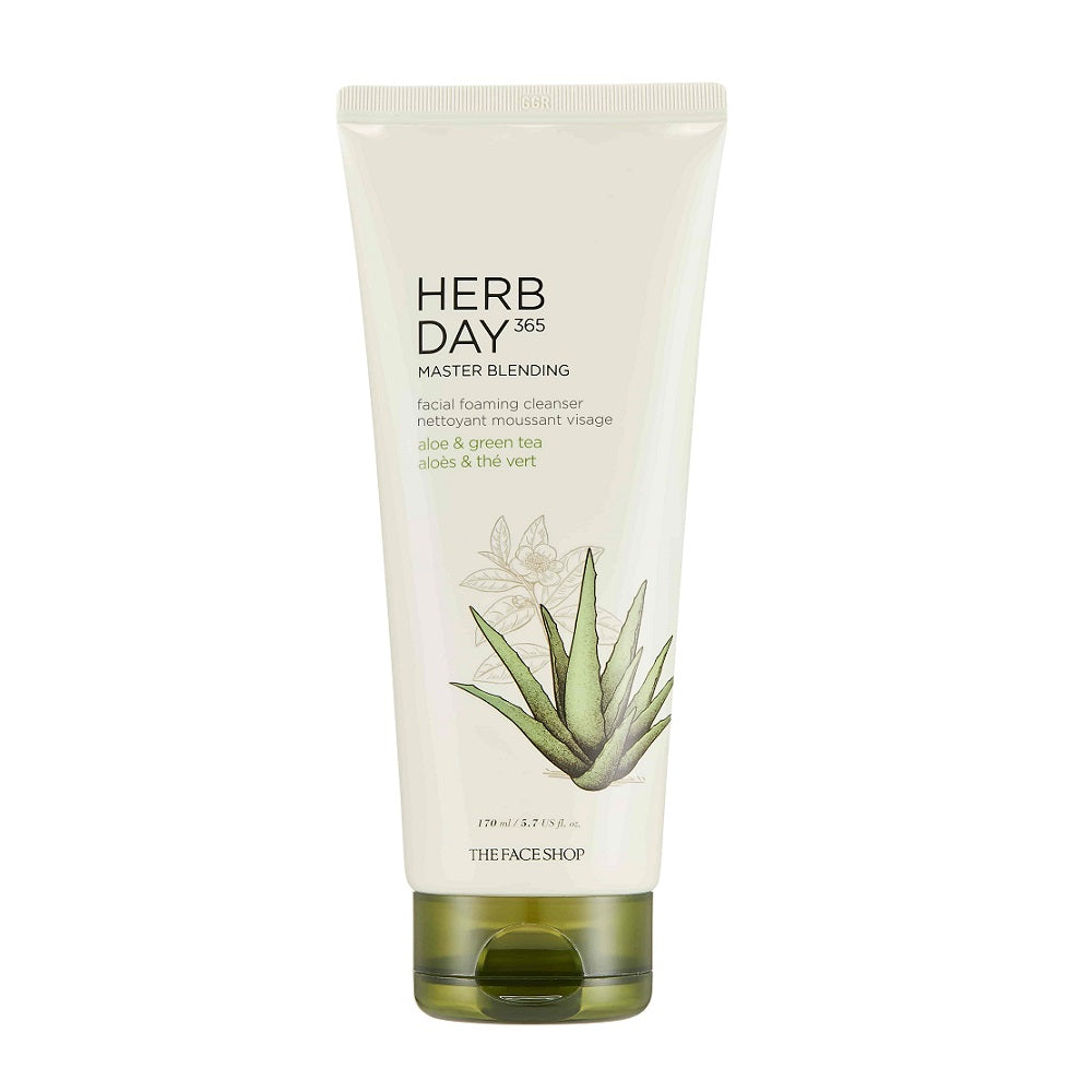 Herb Day 365 Foaming Cleanser - Aloe & Green Tea